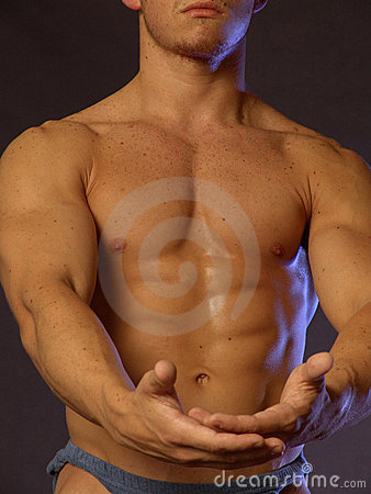 Free Fitness Guy For Product Placement Stock Image - 856301
