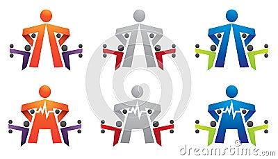 Fitness, gym, bodybuilding, cardio logo