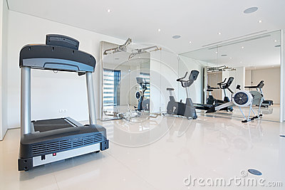 Fitness gym at home.