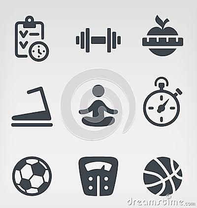 Free Fitness Icon Set Royalty Free Stock Image - 30599866