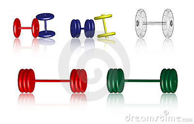 Fitness icons - Dumbbells - Vector