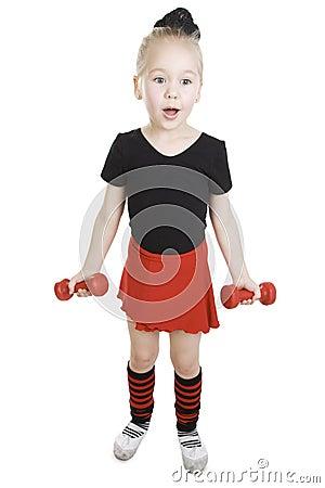 Fitness little girl.