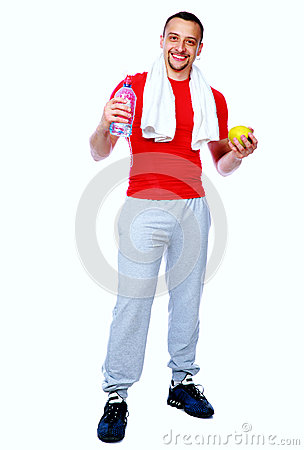Free Fitness Man Just After A Workout Royalty Free Stock Photos - 40628428
