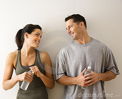 Fitness man and woman