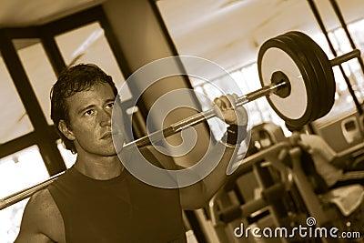 Fitness Men With Yoke