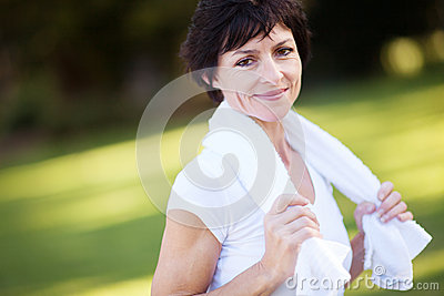 fitness middle aged woman