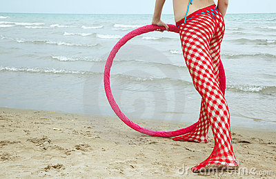 Fitness outdoors with hoop