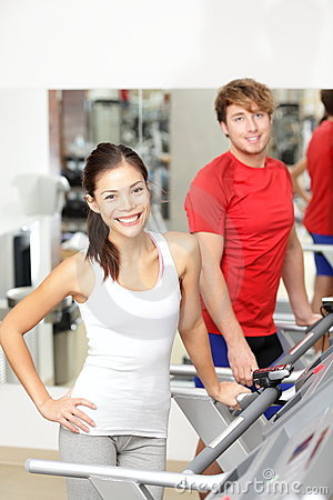 Fitness people in gym