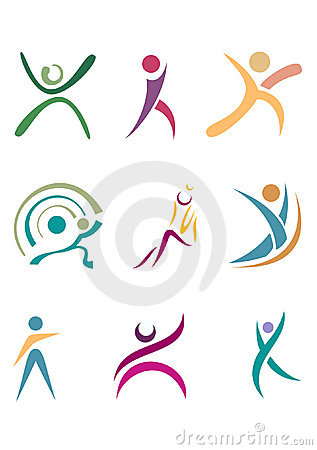 Free Fitness People Silhouettes Stock Photos - 5756493