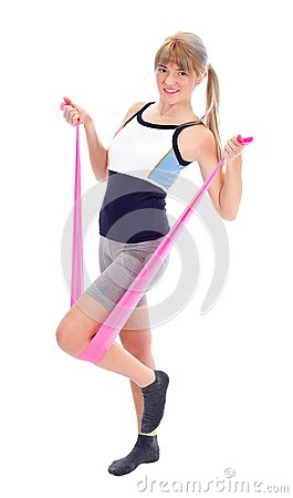Fitness with resistance band
