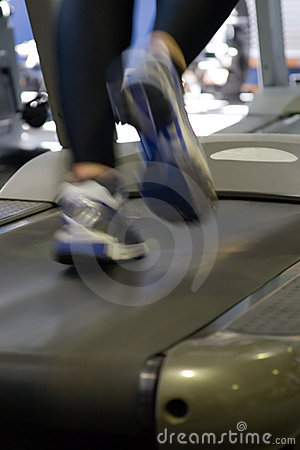 Fitness,running on the treadmill