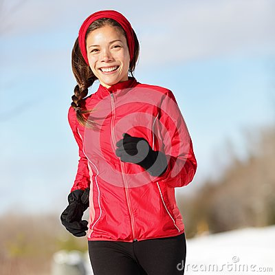 Fitness running woman