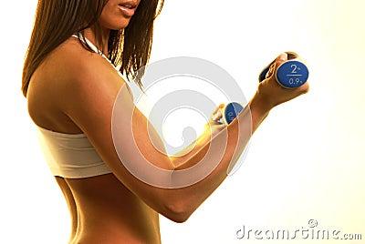 Fitness s fizycznej kobiet