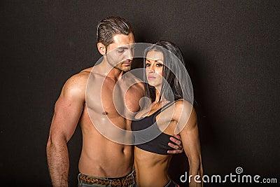 Portrait of athletic couple