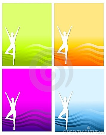 Fitness Silhouette Backgrounds