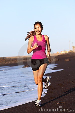 Free Fitness Sport Woman Running Stock Images - 23749664