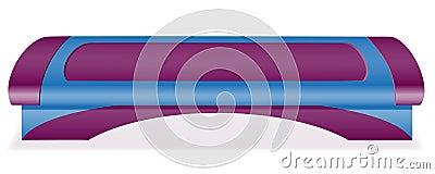 Fitness step board vector illustration