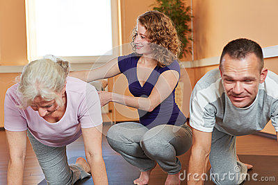 Fitness trainer with senior sports
