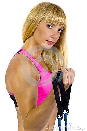 Fitness Training with gym bands