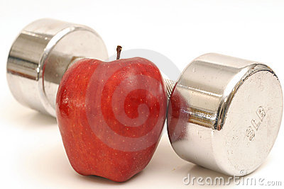 fitness weight & apple