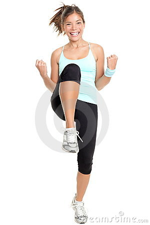 Fitness woman aerobics