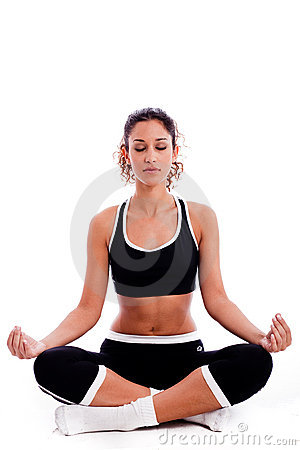 Fitness Woman doing meditation