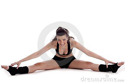Fitness woman doing streching exercise