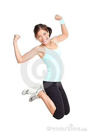 Free Fitness Woman Jumping Royalty Free Stock Photo - 18764735