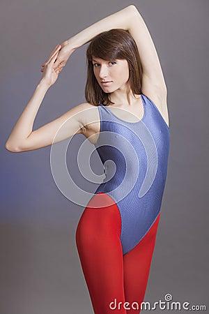 Fitness woman in leotard