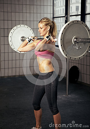Free Fitness Woman Lifting Heavy Weight Royalty Free Stock Photos - 25520058
