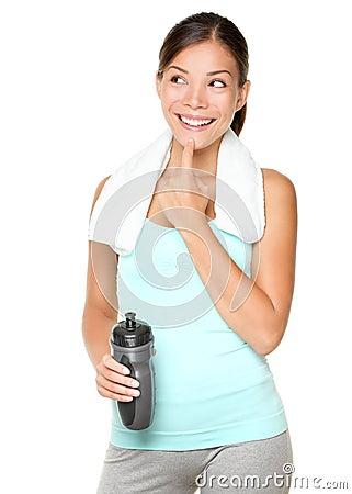 Free Fitness Woman Thinking Stock Photo - 20468780