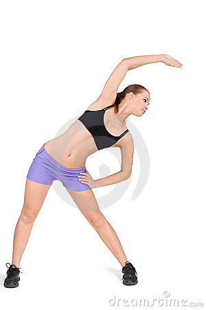 Fitness woman working out gymnastic exercises
