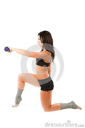 Fitness woman on yoga and pilates pose