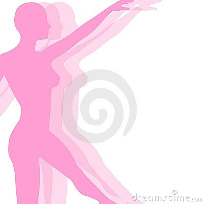 Fitness Yoga Or Dance Silhouette Royalty Free Stock Images - Image: 4609199