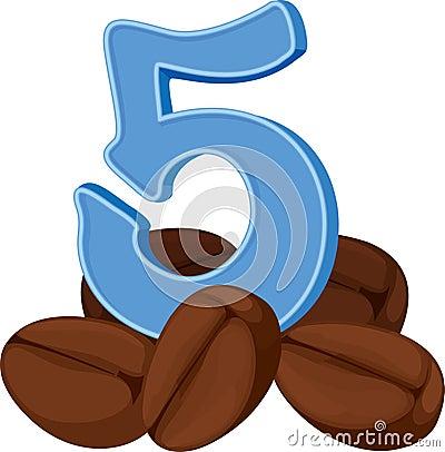 Free Five Coffee Beans Stock Photo - 39485470