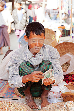 Free Five-day Market, Inle Lake Royalty Free Stock Images - 49278749