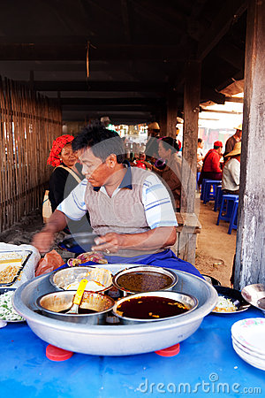 Free Five-day Market, Inle Lake Stock Images - 49300844