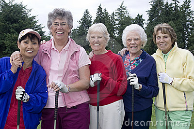 Five Elderly Women