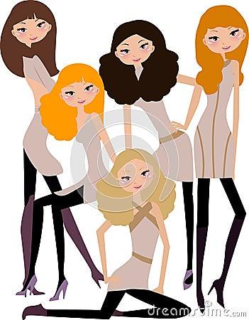 Five fashion girls