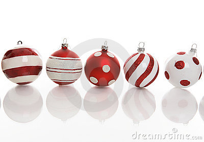 Five Festive Christmas Baubles