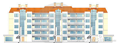 Five-floor apartment house