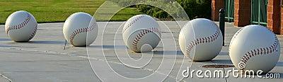 Five Giant Baseballs