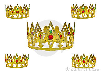 Five gold crowns