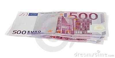 Five hundred euro bills