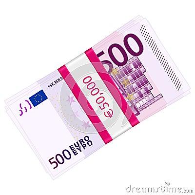 Five hundred euro pack