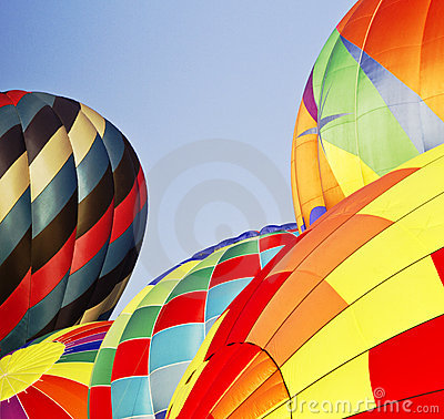 Five, Inflating Hot Air Balloons