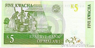 Five Kwacha banknote