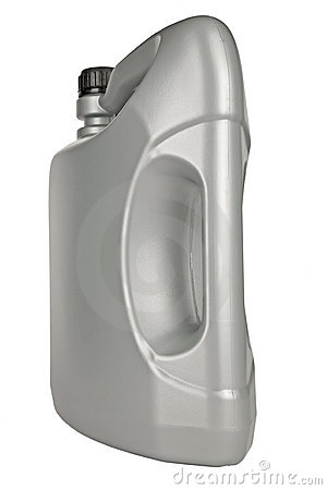 Five-liter bottle of motor oil