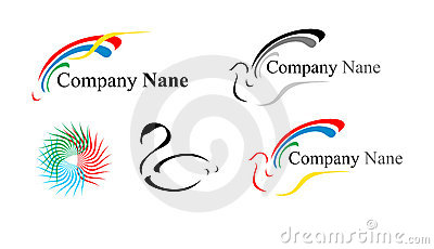 Five logos: a dove and others