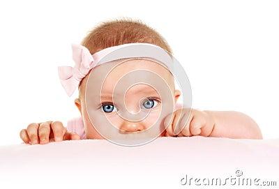 Five months old baby portrait